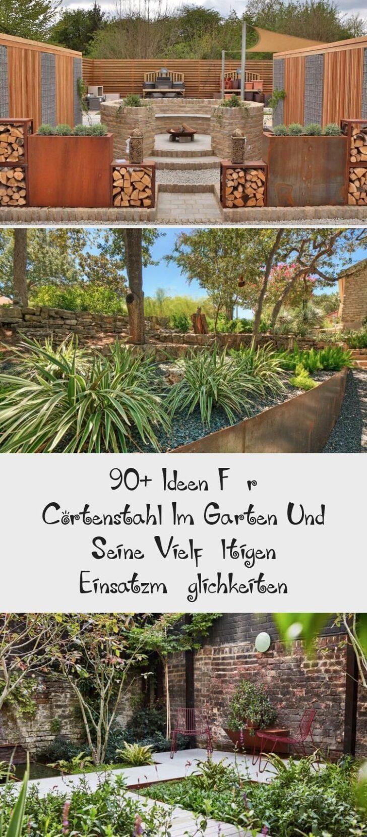 Medium Size of Ber 90 Ideen Fr Cortenstahl Im Garten Und Seine Vielfltigen Wohnzimmer Holzlege Cortenstahl