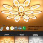 Led Deckenleuchte Dimmbar Farbwechsel Fernbedienung Rund Obi Deckenlampe Schwarz Anlernen Bauhaus Design Modern Einfach Deckenleuchten 15 Flammig Wohnzimmer Wohnzimmer Deckenlampe Led Dimmbar