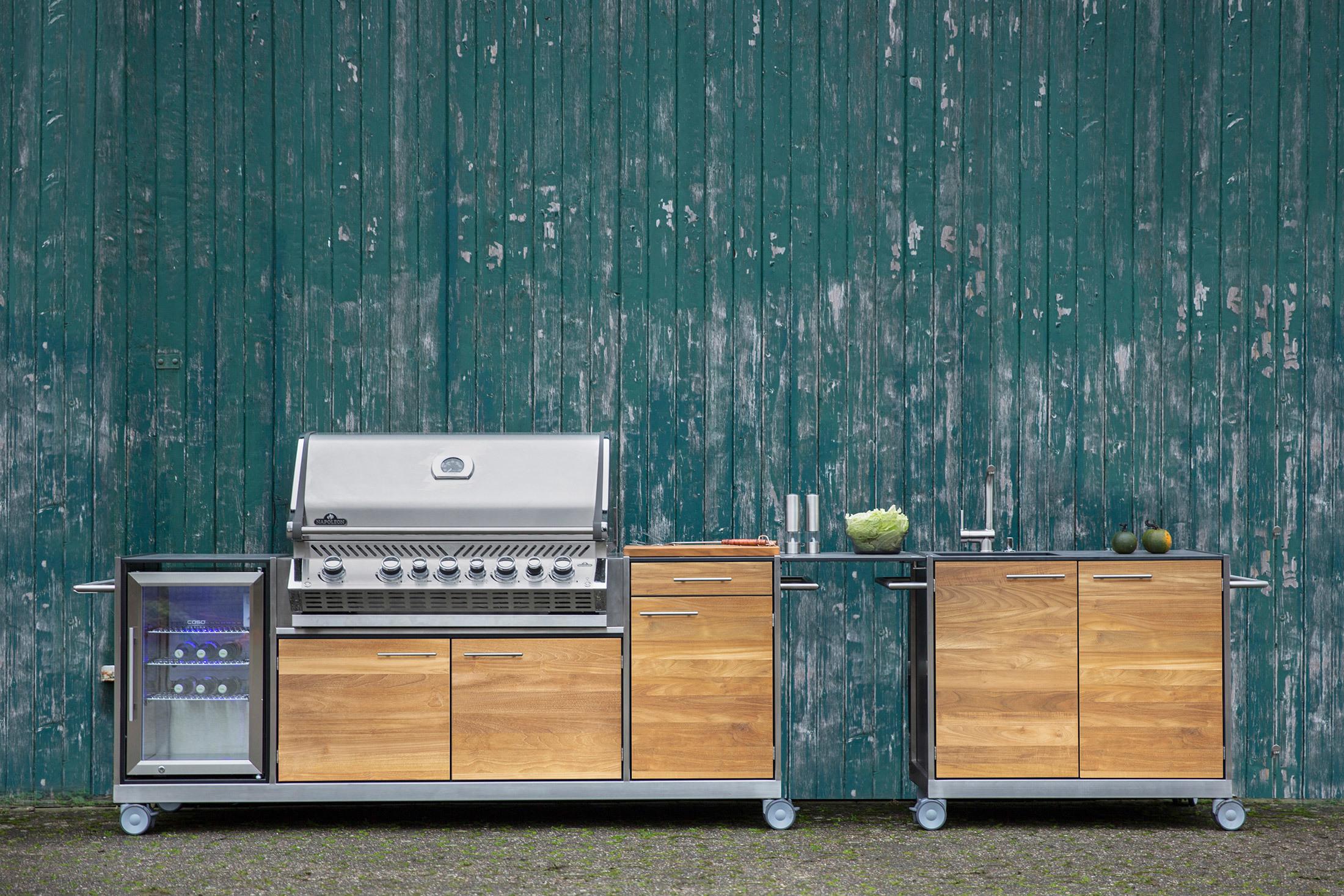 Full Size of Basic Outdoor Kche Von Niehoff Garden Stylepark Mobile Küche Wohnzimmer Mobile Outdoorküche