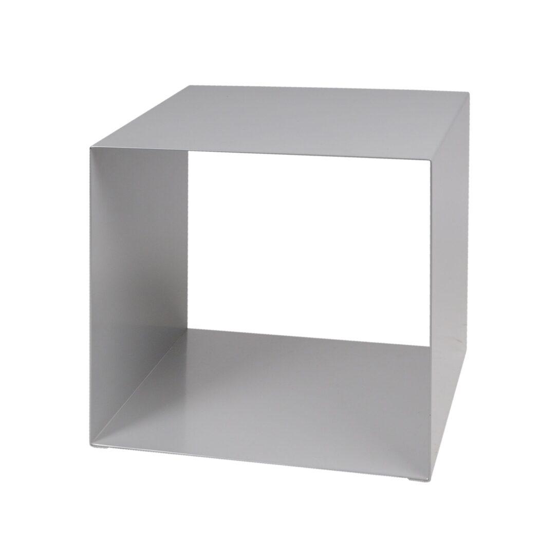 Large Size of Regalwürfel Metall Regal Wrfel Quadrato Silber Promondo Bett Weiß Regale Wohnzimmer Regalwürfel Metall