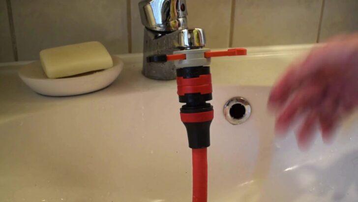 Gartenschlauch An Wasserhahn Anschlieen Gardena Adapter Youtube Laminat Für Küche Kleine L Form Was Kostet Eine Wandfliesen Handtuchhalter Bodenbelag Wohnzimmer Wasseranschluss Küche