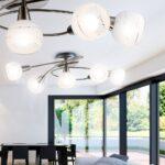 Deckenleuchte Led Wohnzimmer Deckenleuchten Ebay Einbau Moderne Dimmbare Lampe Ring Designer Dimmbar Obi Amazon Farbwechsel Bilder In Rundem Design Aus Nickel Wohnzimmer Deckenleuchte Led Wohnzimmer