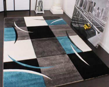 Teppich 300x400 Wohnzimmer Teppich 300x400 Designer Karo Trkis Grau Teppichcenter24 Schlafzimmer Küche Wohnzimmer Teppiche Esstisch Bad Für Steinteppich Badezimmer