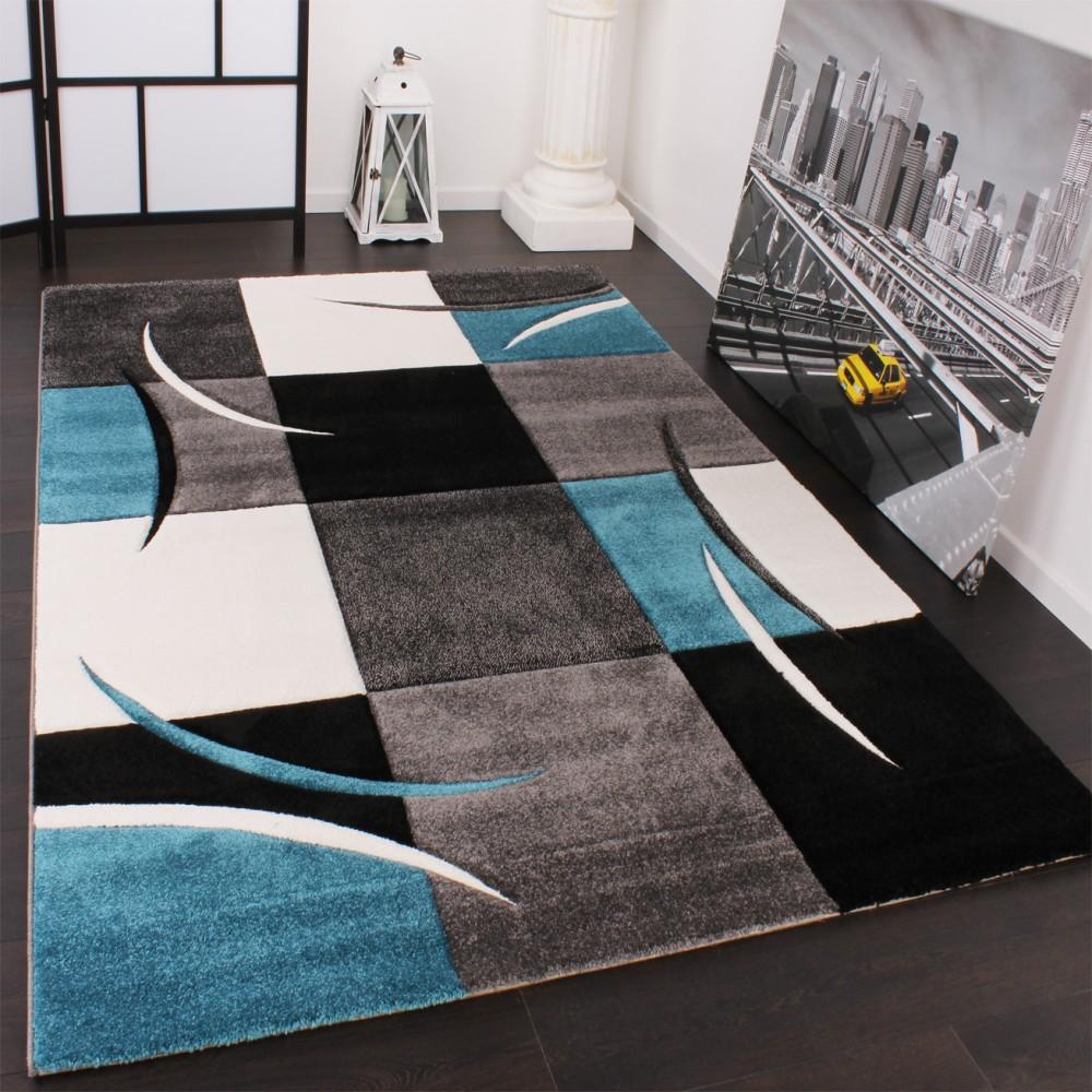 Full Size of Teppich 300x400 Designer Karo Trkis Grau Teppichcenter24 Schlafzimmer Küche Wohnzimmer Teppiche Esstisch Bad Für Steinteppich Badezimmer Wohnzimmer Teppich 300x400