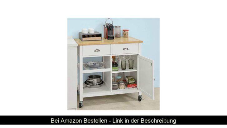 Medium Size of Sobuy Fkw62 Wn Kchenwagen Servierwagen Mit Ablagen Und Garten Küche Wohnzimmer Küchenwagen Servierwagen