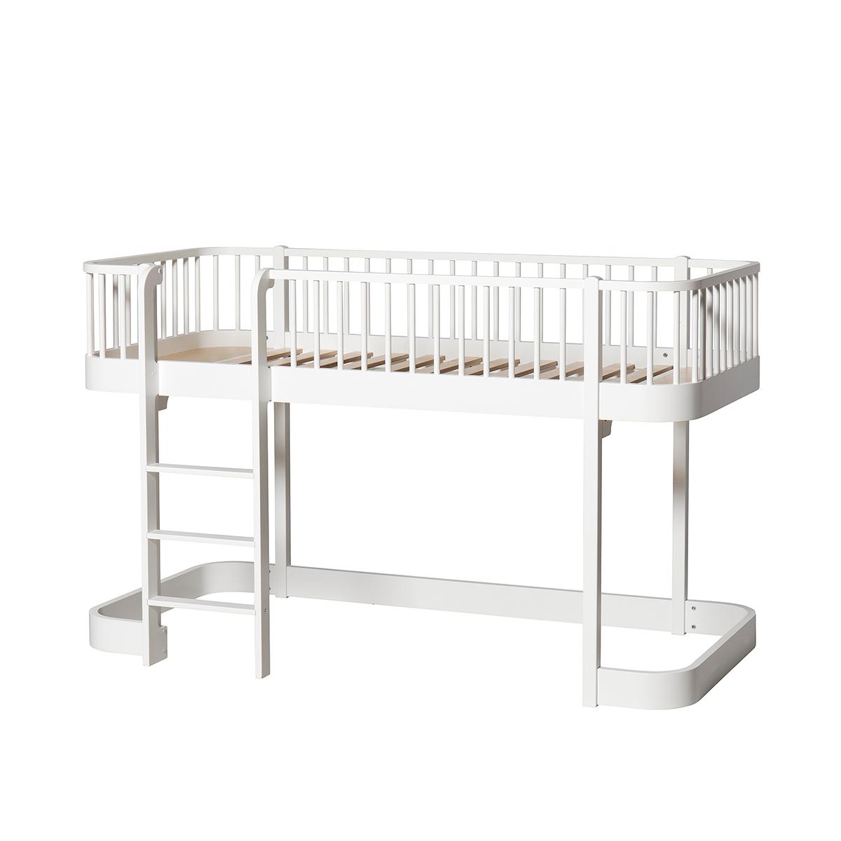 Full Size of Wood Halbhohes Hochbett Bett Wohnzimmer Halbhohes Hochbett