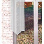 Scheibengardinen Balkontür Gardinen Welt Online Shop Transparente Schiebegardine Blattranke Küche Wohnzimmer Scheibengardinen Balkontür