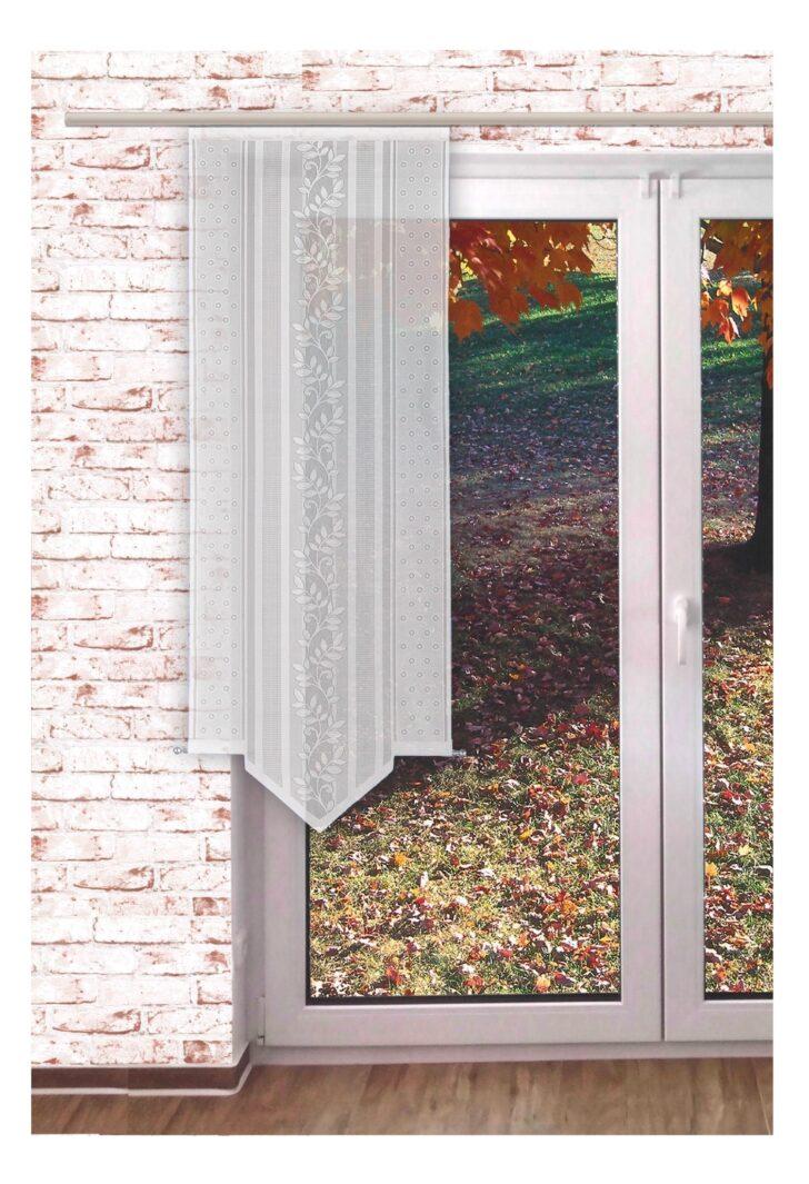 Medium Size of Scheibengardinen Balkontür Gardinen Welt Online Shop Transparente Schiebegardine Blattranke Küche Wohnzimmer Scheibengardinen Balkontür