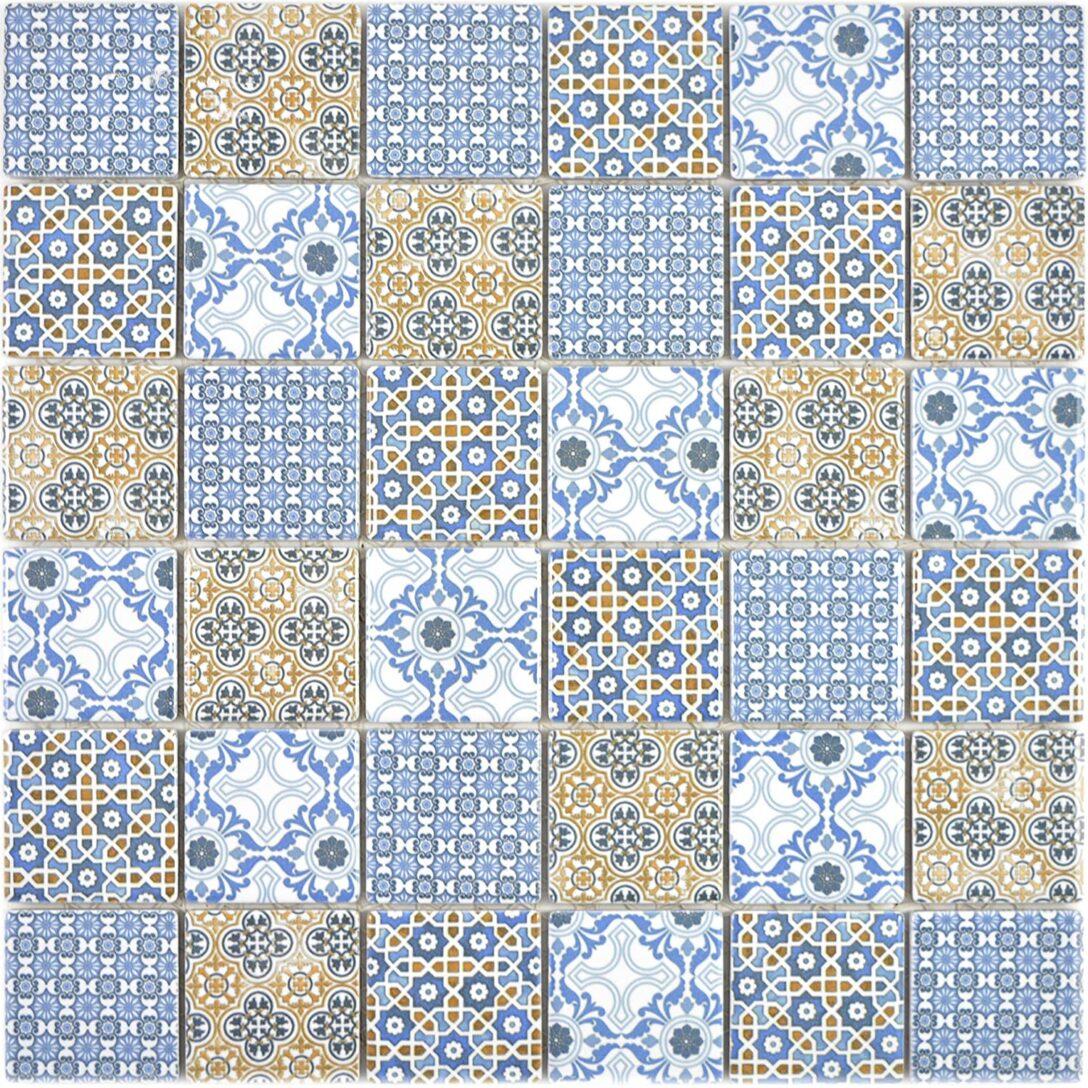 Large Size of Fußbodenfliesen Küche Keramik Mosaikfliesen Daymion Retrooptik Blau Braun Wandpaneel Glas Laminat Arbeitstisch Salamander Jalousieschrank Hängeschrank Wohnzimmer Fußbodenfliesen Küche