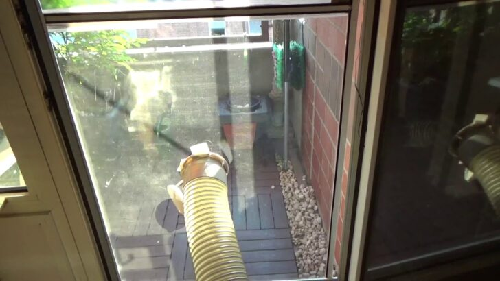 Medium Size of Fenster Klimaanlage Lsung Fr Abluftschlauch Mobile Teil 2 Youtube Schüco Kaufen Einbruchsicherung Maße Drutex Test Abdichten Velux Einbauen Fliegengitter Wohnzimmer Fenster Klimaanlage