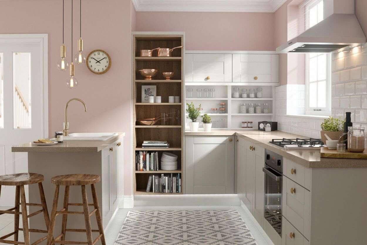 Full Size of Wandfarbe Rosa Graue Kche Welche Eignet Sich Am Besten Küche Wohnzimmer Wandfarbe Rosa