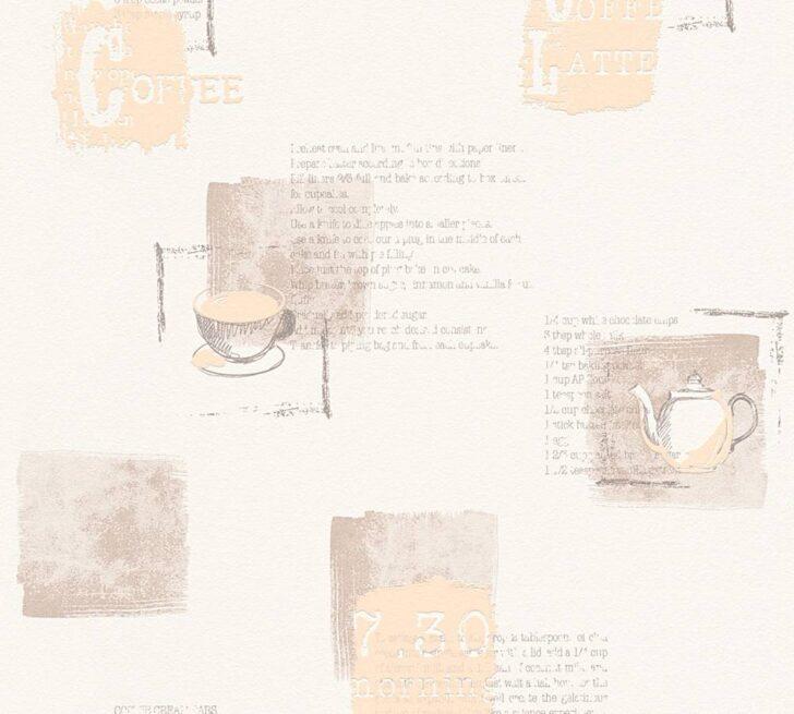 Medium Size of Tapete Küche Kaffee Vliestapete Kche Coffee Rezepte Wei Beige 32733 1 Ohne Elektrogeräte Eiche Auf Raten Waschbecken Einbauküche Nobilia Rosa Obi Grau Wohnzimmer Tapete Küche Kaffee