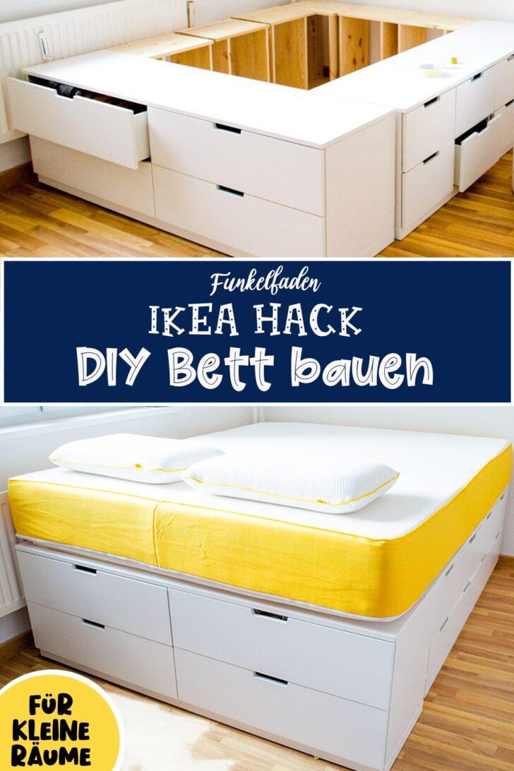 Medium Size of Diy Ikea Hack Bett Selber Bauen Aus 5 Nordli Plattformbett Mit Bettkasten 180x200 Bodengleiche Dusche Einbauen Weiß 90x200 Jensen Betten 140x200 Stauraum Wohnzimmer Stauraum Bett Selber Bauen
