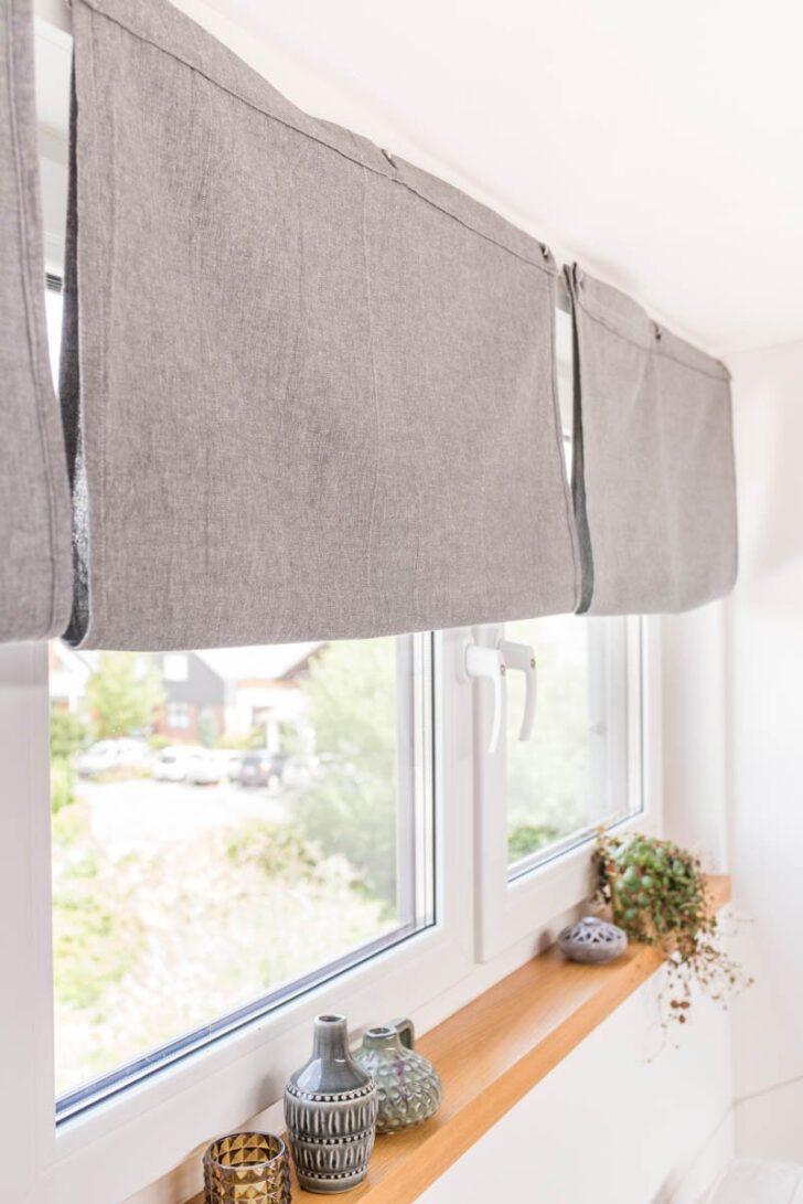 Medium Size of Raffrollo Küchenfenster Diy Einfache Raffrollos Selber Nhen Leelah Loves Küche Wohnzimmer Raffrollo Küchenfenster