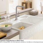 Villeroy Boch Splstein Doppelbecken White Pearl 6323 91 Kt Keramik Waschbecken Küche Wohnzimmer Spülstein Keramik
