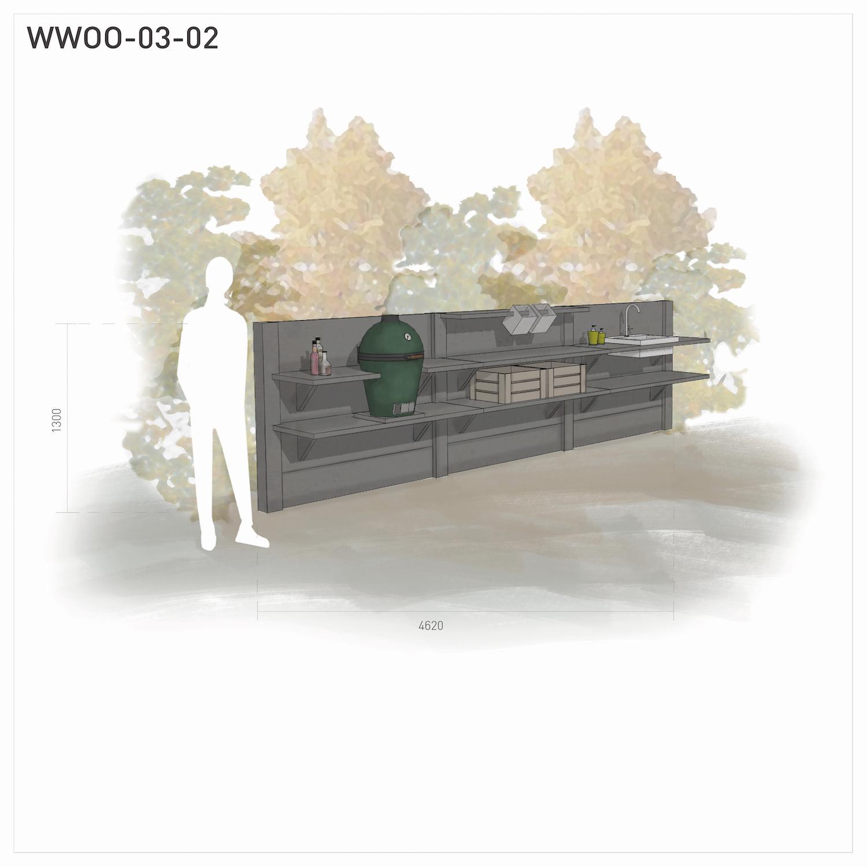 Full Size of Drei Modulen Outdoor Kche Und Gartenkchen Von Wwoo Küche Landhaus Gardinen Für Gebrauchte Einbauküche Rosa Billig Abfallbehälter Sitzbank Mit Lehne Wohnzimmer Edelstahl Outdoor Küche