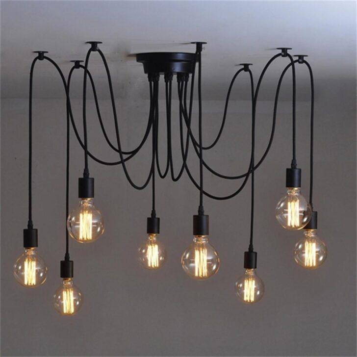 Medium Size of Vintage 8 Kpfe Nordic Retro Edison Lampe Licht Wohnzimmer Led Schlafzimmer Bad Küche Esstisch Wohnzimmer Vintage Deckenleuchte
