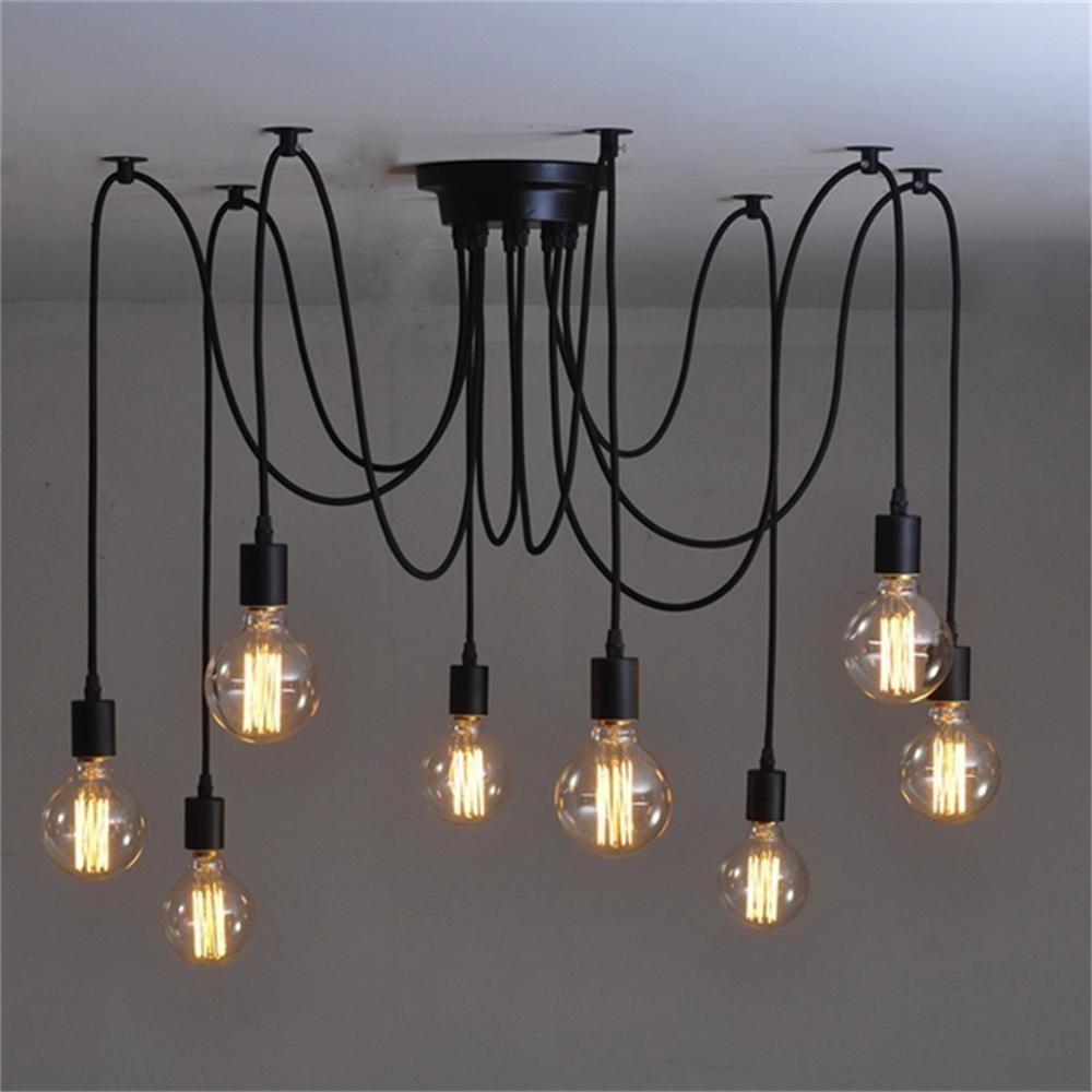 Full Size of Vintage 8 Kpfe Nordic Retro Edison Lampe Licht Wohnzimmer Led Schlafzimmer Bad Küche Esstisch Wohnzimmer Vintage Deckenleuchte