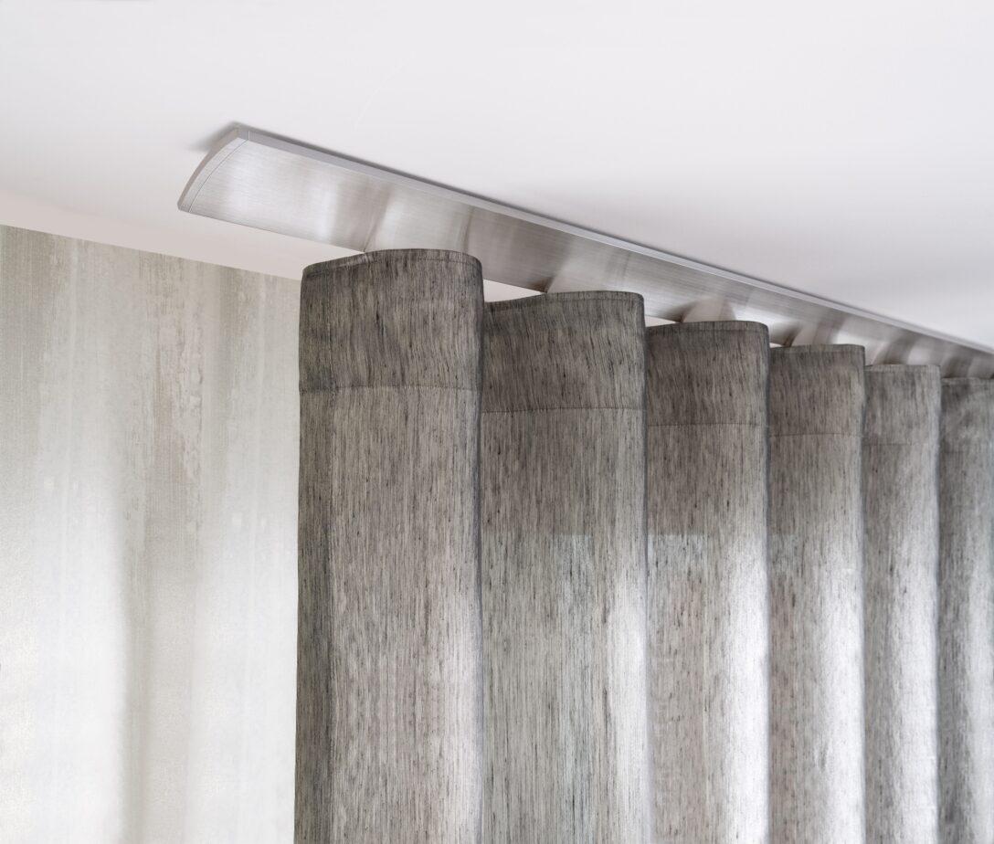 Large Size of Vorhänge Schiene Interstil W2 Deckenmontage In Farbe 79 Aluminium Magenau Schlafzimmer Wohnzimmer Küche Wohnzimmer Vorhänge Schiene