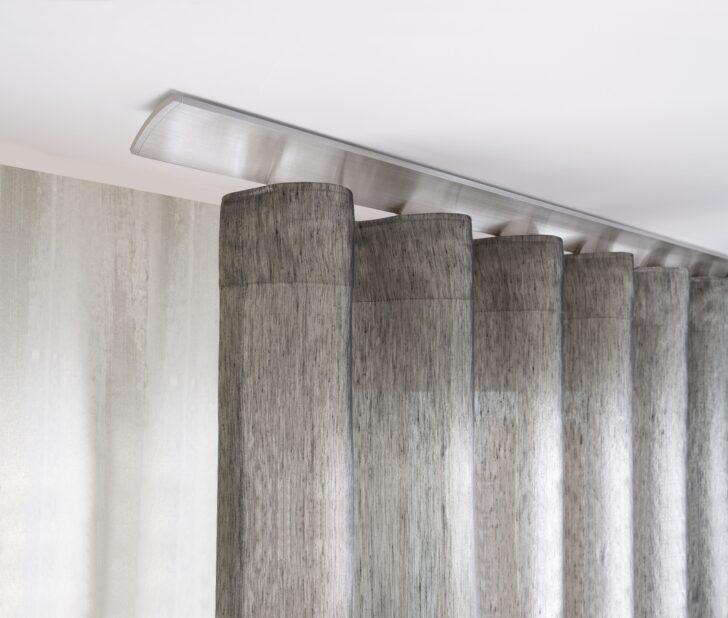 Medium Size of Vorhänge Schiene Interstil W2 Deckenmontage In Farbe 79 Aluminium Magenau Schlafzimmer Wohnzimmer Küche Wohnzimmer Vorhänge Schiene