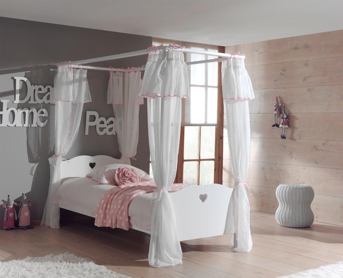 Full Size of Himmelbett Amori Mdchenbett Liegeflche 90 200 Mit Bett Vorhang Wohnzimmer Mädchenbetten