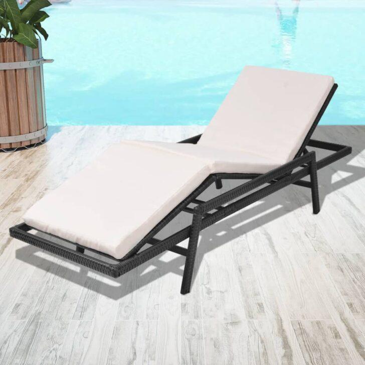 Medium Size of Vidaxl Sonnenliege Verstellbar Poly Rattan Schwarz Gartenliege Relaxliege Garten Wohnzimmer Sofa Mit Verstellbarer Sitztiefe Wohnzimmer Relaxliege Verstellbar