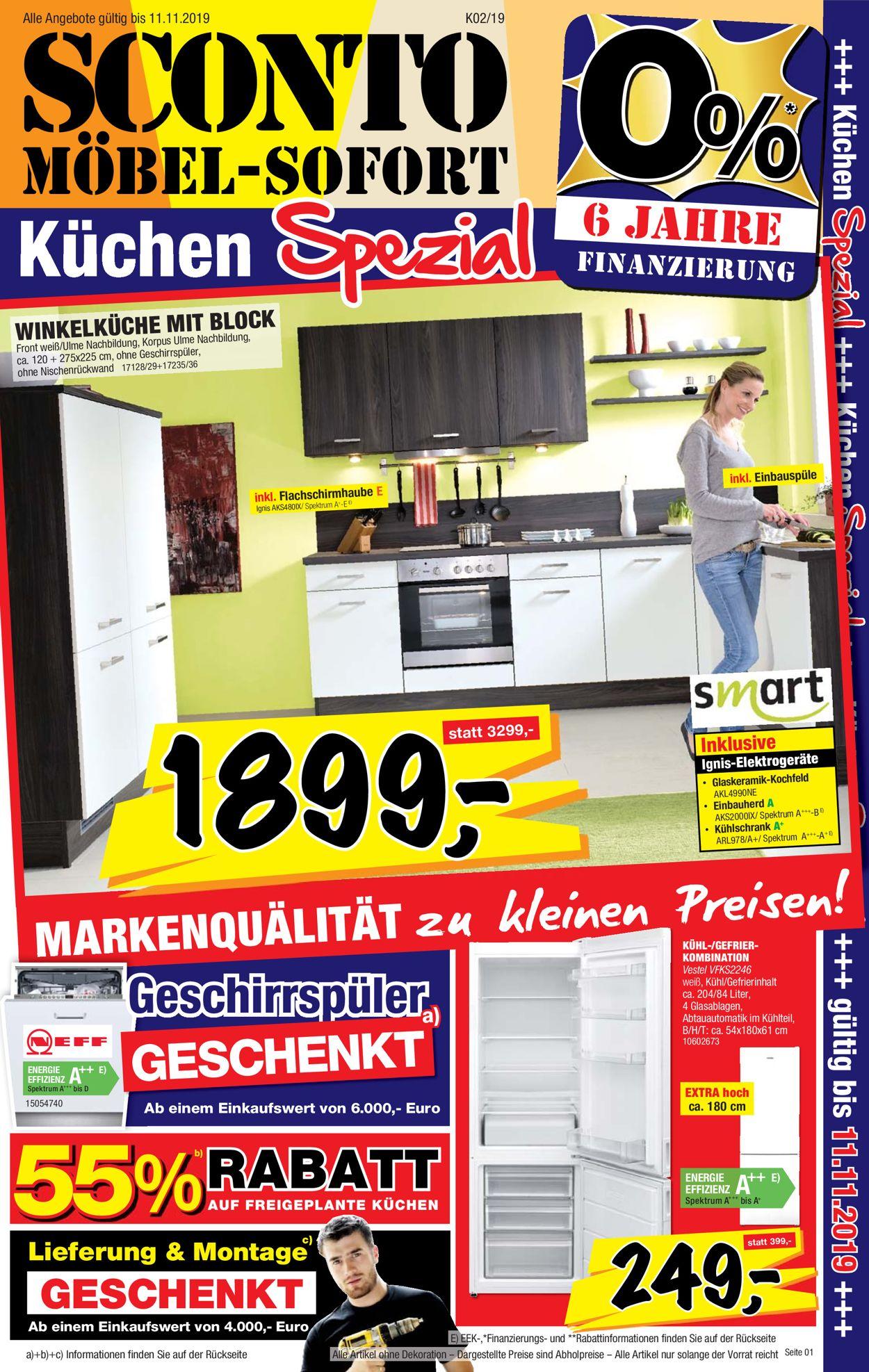 Full Size of Sconto Aktueller Prospekt 2210 11112019 Jedewoche Rabattede Küchen Regal Wohnzimmer Sconto Küchen