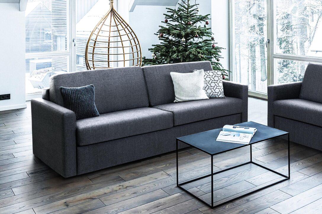 Large Size of Bettsofa Emily Stoff Grau Leicht Ausklappbar Matratze 140x195 Mdv H Bett Ausklappbares Wohnzimmer Couch Ausklappbar