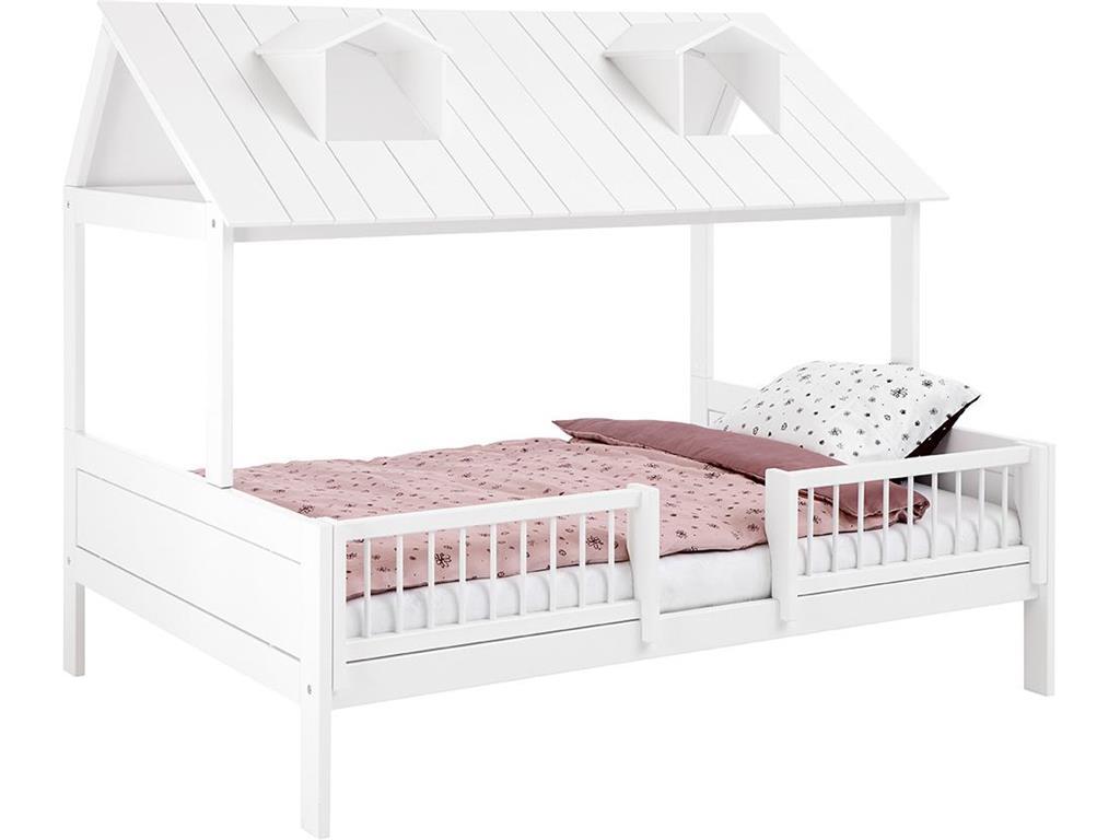 Full Size of Bettgestell 120x200 Beachhouse Bett Mit Deluxe Lattenrost Cm In Wei Lackiert Weiß Betten Bettkasten Matratze Und Wohnzimmer Bettgestell 120x200