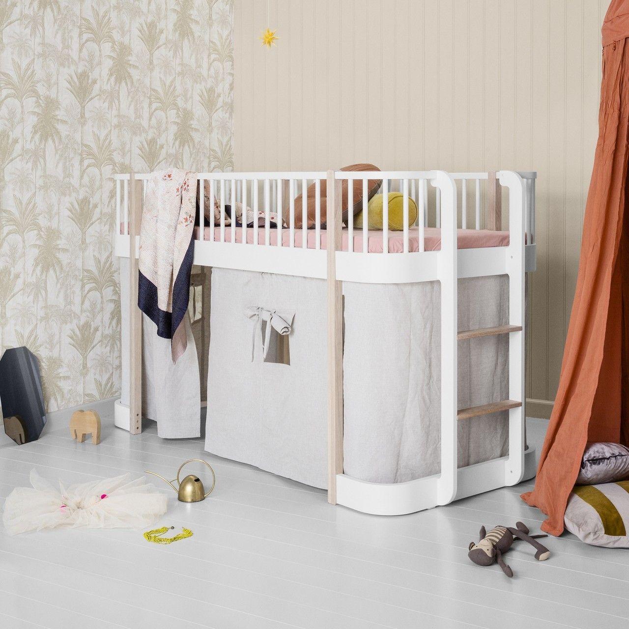 Full Size of Oliver Furniture Vorhang Fr Halbhohes Hochbett Wood Natur Bett Wohnzimmer Halbhohes Hochbett