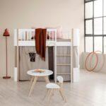 Oliver Furniture Halbhohes Hochbett Mini Wood Collection Eiche Bett Wohnzimmer Halbhohes Hochbett
