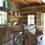 Küchen Rustikal Angenehme Rustikale Kchen Kchenzeile Mit Esstisch Regal Rustikaler Holz Rustikales Bett Küche Wohnzimmer Küchen Rustikal