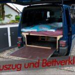 Heckauszug Und Sidepannels Unterm Bett Vw T4 Bullycamper Youtube Mit Ausziehbett Wohnzimmer Ausziehbett Camper