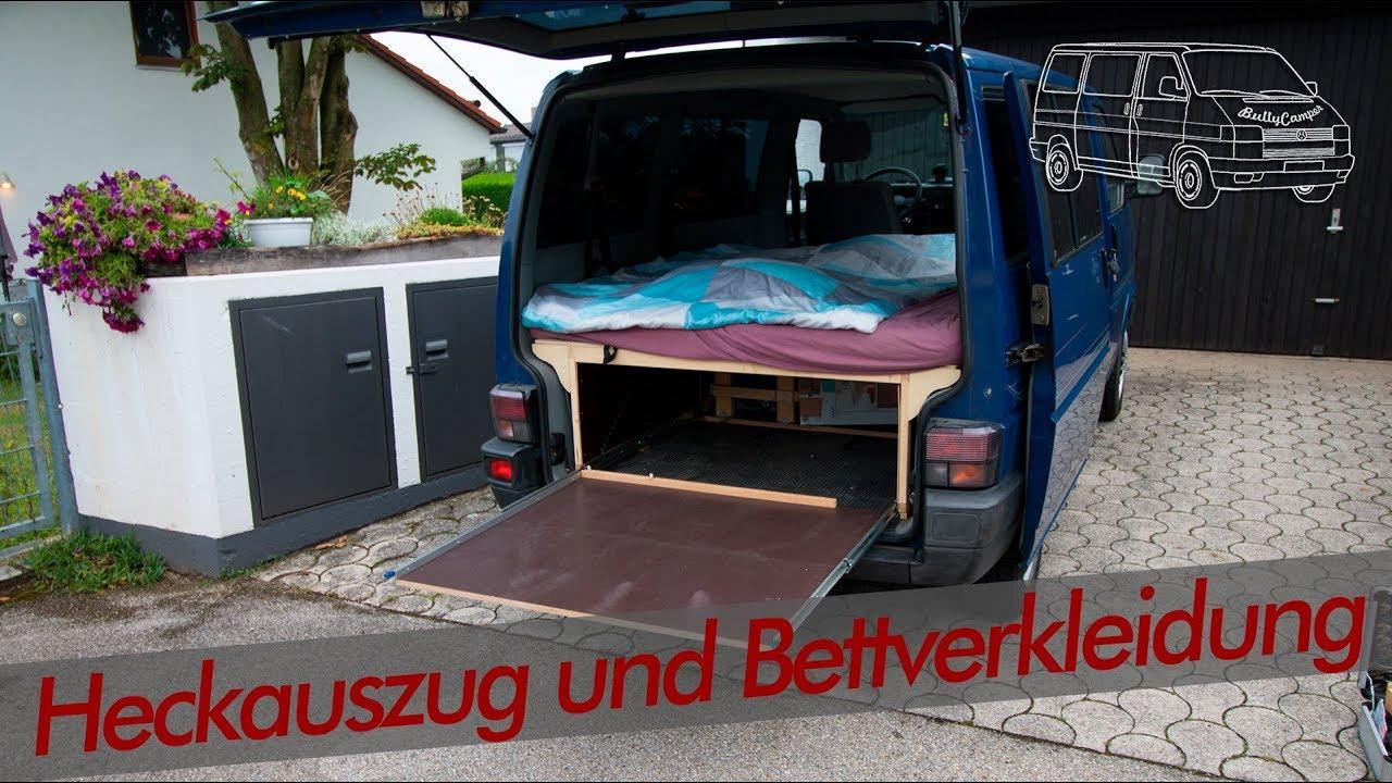 Full Size of Heckauszug Und Sidepannels Unterm Bett Vw T4 Bullycamper Youtube Mit Ausziehbett Wohnzimmer Ausziehbett Camper
