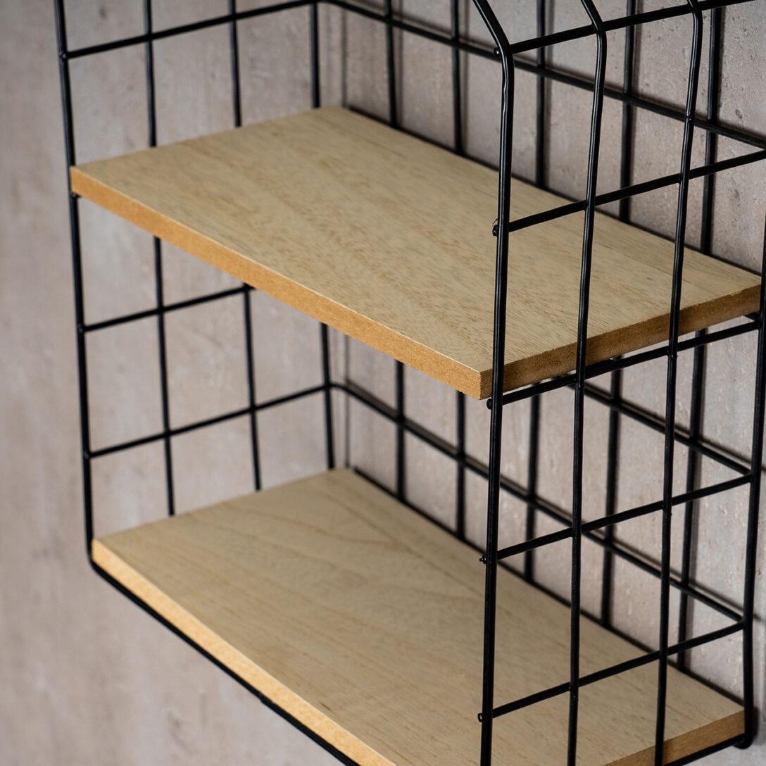 Large Size of Wandregal Metall Schwarz Regal 22x32cm Industrial Style Hngeregal Bett Weiß Schwarzes Bad Schwarze Küche Regale Landhaus Wohnzimmer Wandregal Metall Schwarz