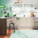 Moderne Küche Gardinen 2020 Wohnzimmer Kche In Der Trendfarbe Grn Frisch Alno Küche Theke Einbauküche Mit E Geräten Hängeschrank Gebraucht Landhausstil Freistehende Billig Bodenbelag