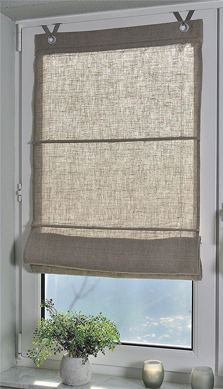 Full Size of Raffrollo Küchenfenster Senrollo Metis Weiss 100 Leinen 45 140 Amazonde Küche Wohnzimmer Raffrollo Küchenfenster