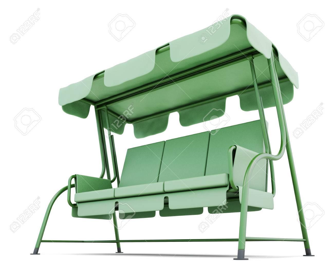 Full Size of Metall Gartenschaukel Mit Baldachin Auf Einem Weien Hintergrund Bett Regale Regal Weiß Wohnzimmer Gartenschaukel Metall