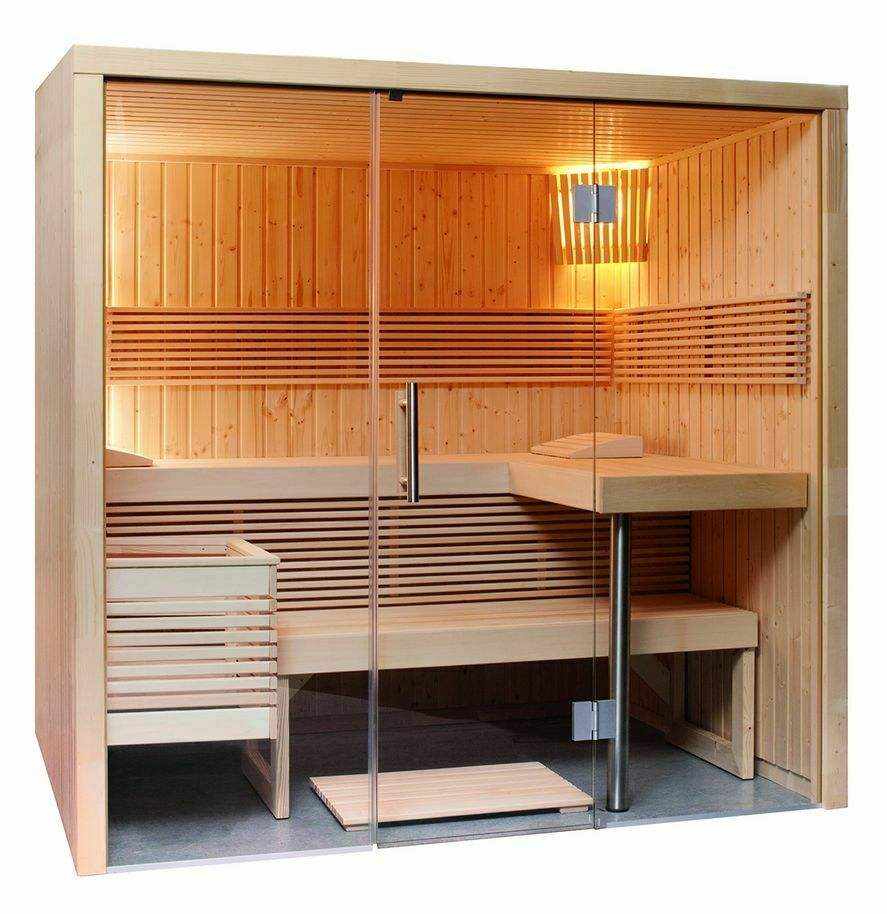 Full Size of Außensauna Wandaufbau Sauna Mit Glasfront 214 160 201 Cm Eos Bi O Filius Wohnzimmer Außensauna Wandaufbau