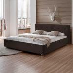 Polsterbett 200x220 Bilbao In Braun Kunstleder Modern Pharao24de Betten Bett Wohnzimmer Polsterbett 200x220