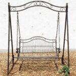 Gartenschaukel Metall Amazonde Dandibo Hollywoodschaukel Antik 2 Sitzer Regale Bett Regal Weiß Wohnzimmer Gartenschaukel Metall
