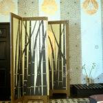 Paravent Bambus Wohnzimmer Paravent Bambus Malte Mit Motiv Gegen Stenciled Wnde Bett Garten