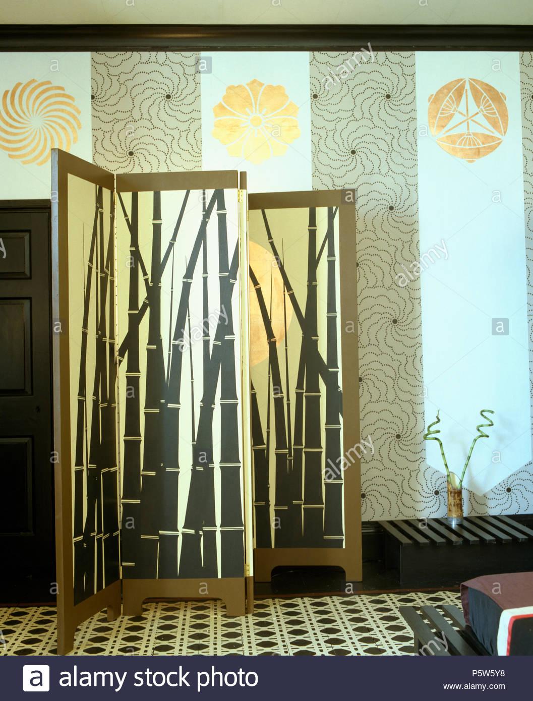 Full Size of Paravent Bambus Malte Mit Motiv Gegen Stenciled Wnde Bett Garten Wohnzimmer Paravent Bambus