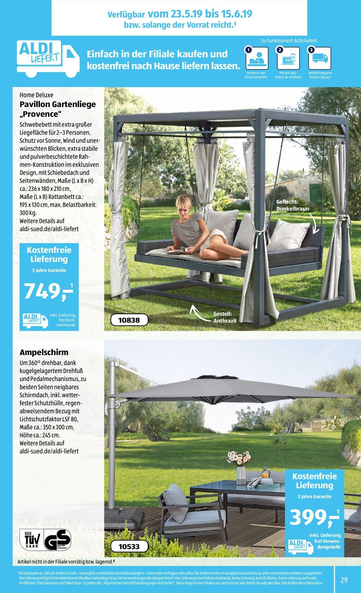 Full Size of Aldi Gartenliege 2020 Sd Aktueller Prospekt 2005 25052019 29 Jedewoche Relaxsessel Garten Wohnzimmer Aldi Gartenliege 2020