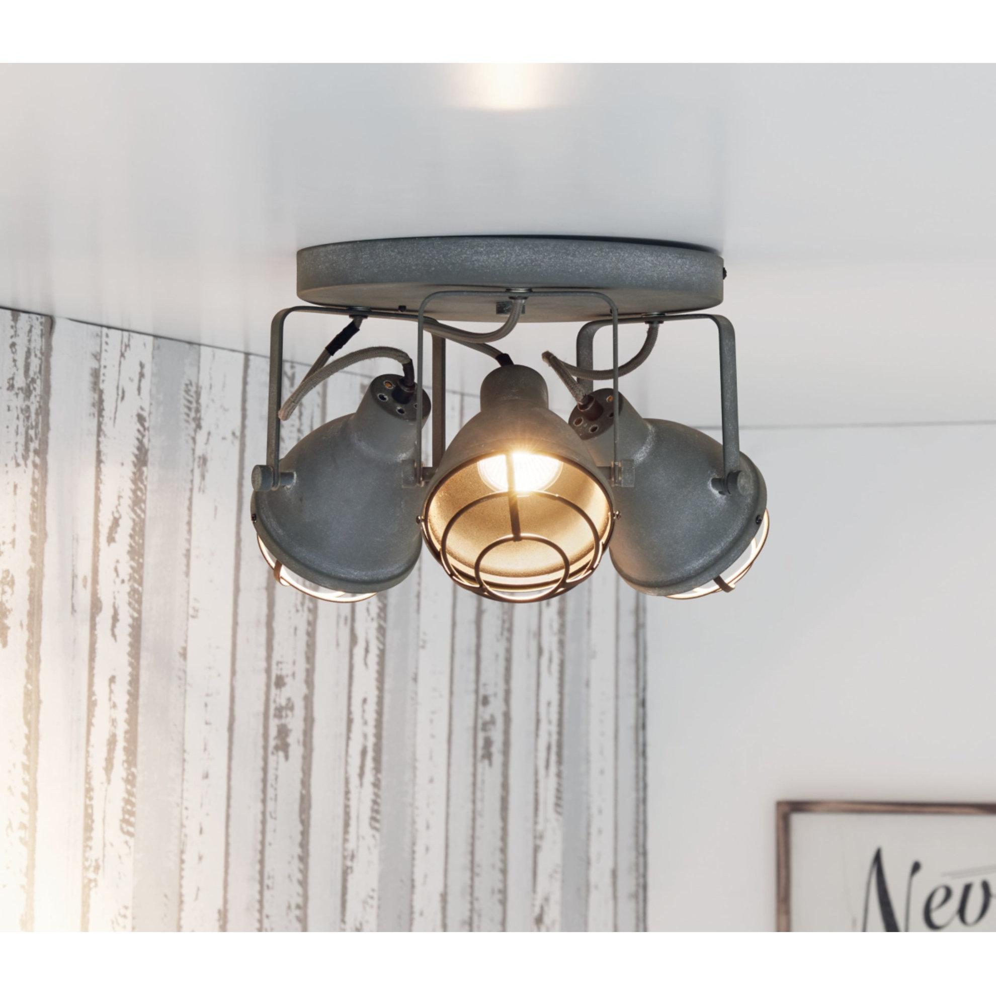 Full Size of Deckenlampe Industrial Miavilla Deckenleuchte 3 Grau Metallic Weltbildde Esstisch Deckenlampen Für Wohnzimmer Modern Schlafzimmer Küche Bad Wohnzimmer Deckenlampe Industrial