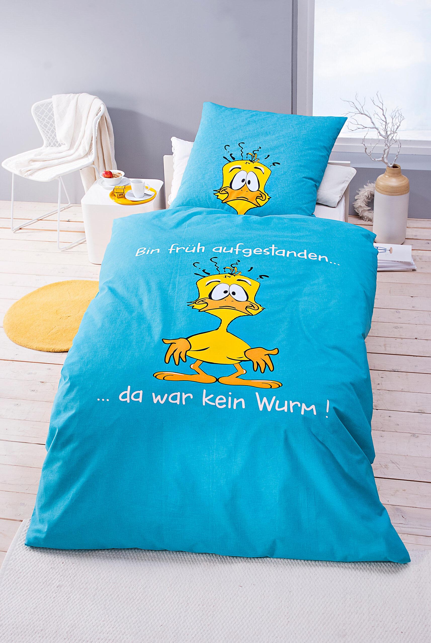 Full Size of Lustige Bettwäsche 155x220 Bettwsche Da War Kein Wurm Sprüche T Shirt T Shirt Wohnzimmer Lustige Bettwäsche 155x220