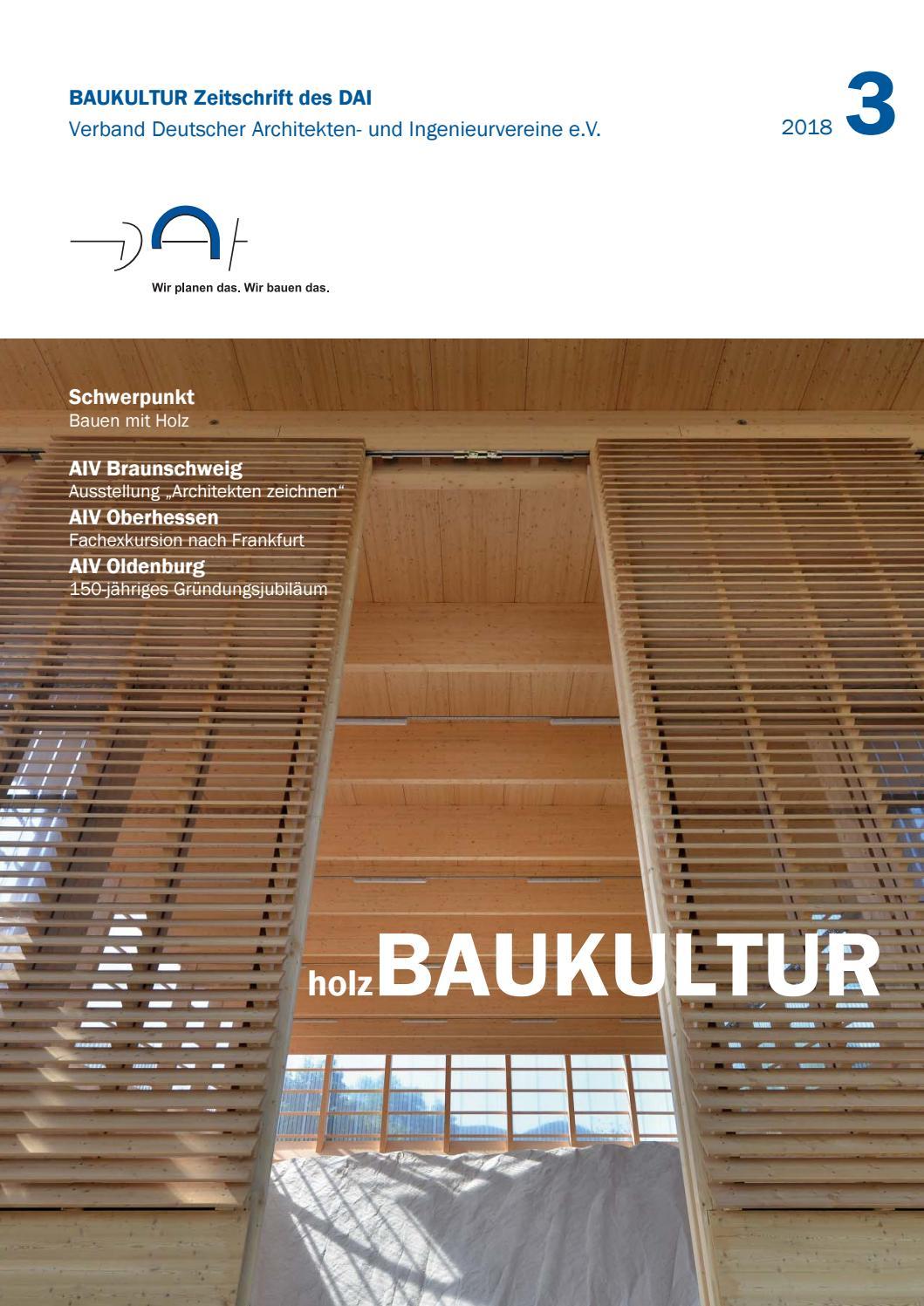 Full Size of Ausgabe 3 2018 Holzbaukultur By Dai Verband Deutscher Architekten Wohnzimmer Außensauna Wandaufbau