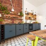 Freistehende Küchen Werk Modulkche Im Industrial Style Jan Cray Mbel Und Kchen Regal Küche Wohnzimmer Freistehende Küchen