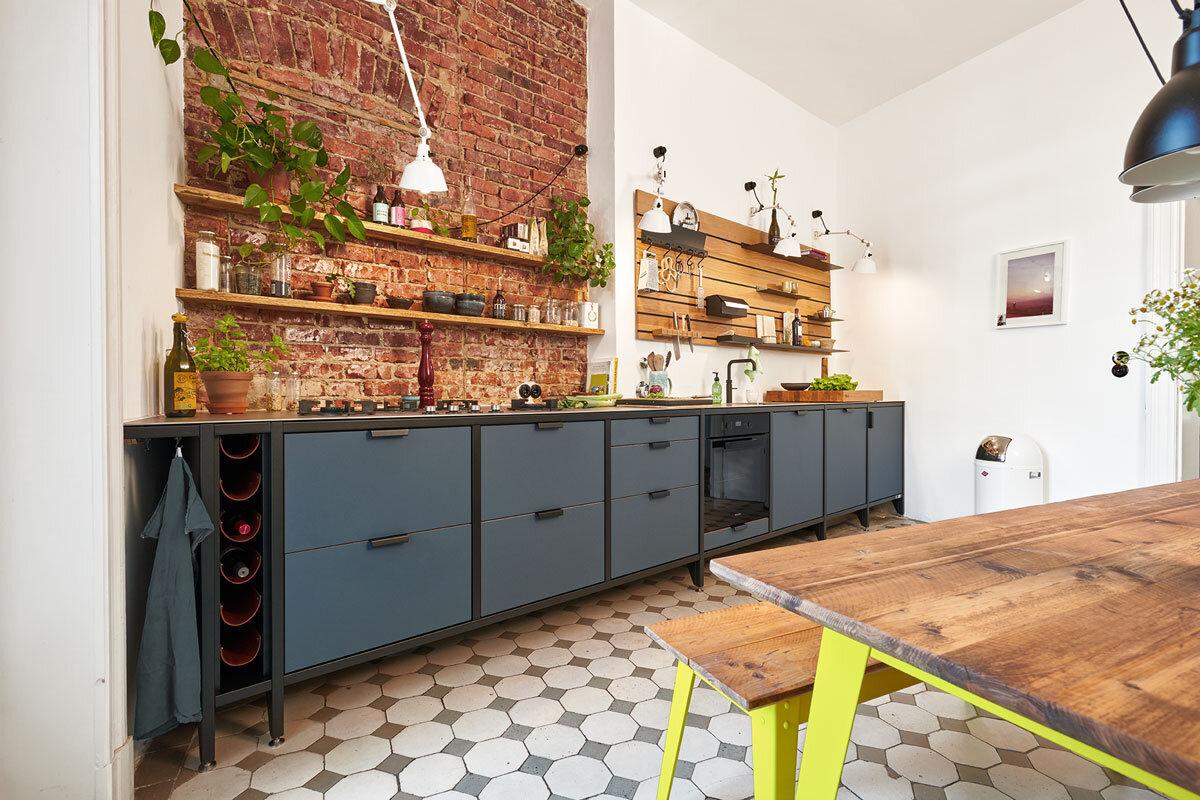 Full Size of Freistehende Küchen Werk Modulkche Im Industrial Style Jan Cray Mbel Und Kchen Regal Küche Wohnzimmer Freistehende Küchen