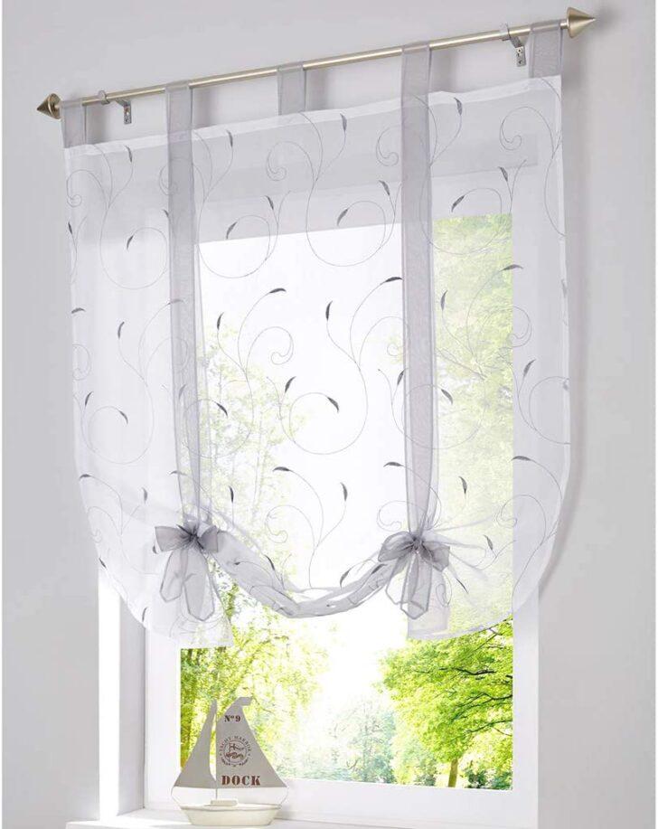 Medium Size of Amazonde Simpvale 1 Stck Voile Raffrollo Vorhang Fr Kche Küche Küchen Regal Wohnzimmer Küchen Raffrollo